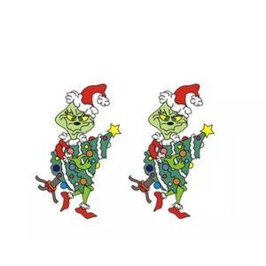 The Grinch Dr. Seuss Christmas Stud Earrings